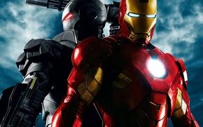 Обои металл, оружие, кино, Железный человек 2