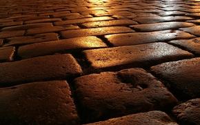 Картинка дорога, камень, вечер, кладка