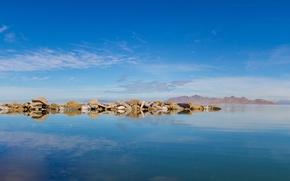 Картинка море, горы, синий, отражение, скалы, sea, blue, mountain, rocks, reflection