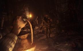 Картинка темнота, тьма, монстры, подвал, amnesia, grunt, фанарь, Amnesia: The Dark Descent, gatherer, пыточная