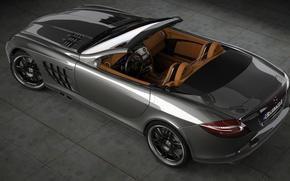 Картинка McLaren, Mercedes-Benz, арт, суперкар, brabus, roadster, Родстер, slr, dangeruss