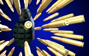 Картинка граната, boom, патроны, оружие
