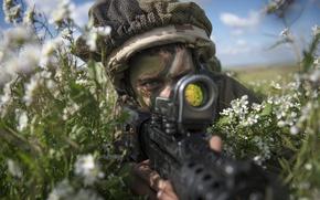 Картинка природа, оружие, солдат, Israel Defense Force