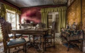 Картинка стол, комната, стулья