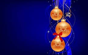 Обои серпантин, игрушки, рождество, украшения, шарик, обои, новый год, бант, шар, бантик