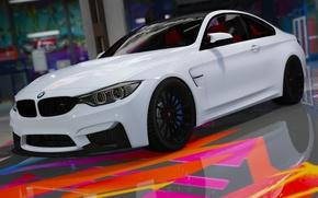 Картинка белый, линии, бмв, BMW, F82, GTA 5, 2015