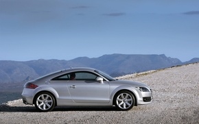 Обои дорога, машина, горы, ауди, road, auto, mountains, audi tt