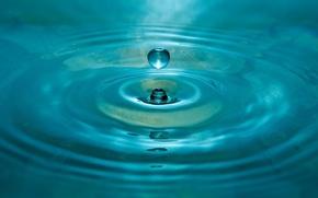 Обои вода, круги, капля