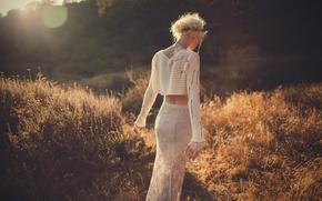 Картинка девушка, природа, солнечный свет, Orange Blossum