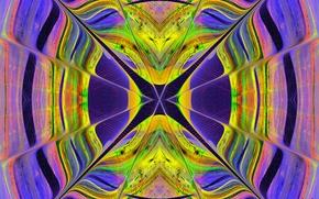 Обои узор, симметрия, стекло, витраж, линии