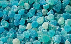 Обои конфеты, голубой, мармелад