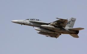 Картинка Небо, Самолет, Австралия, Boeing, штурмовик, Истребитель-бомбардировщик, F/A-18 Super Hornet