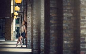 Обои балерина, пуанты, страсть, Marine Fauvet, танец, ножки