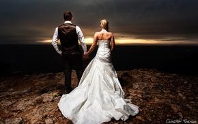 Картинка девушка, любовь, настроение, женщина, чувства, пара, мужчина, парень, невеста, жених, свадебное платье