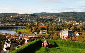 Картинка осень, пейзаж, Норвегия, landscape, autumn, Norway, fall, Trondheim, Тронхейм