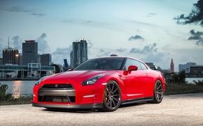 Картинка GTR, Nissan, Red, Series, Vossen, Precision