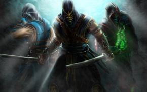 Картинка Sub-Zero, Ermac, Scorpion, Assassins, Kombat, Mortal