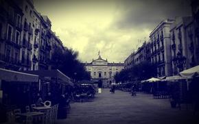 Картинка площадь, нуар, испания, европа, таррагона