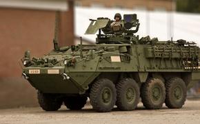 Картинка страйкер, General Dynamics Land Systems, боевая бронированная машина, stryker