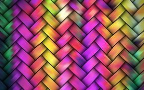 Картинка цвета, плетенка, яркость