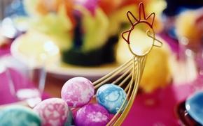 Картинка праздник, краски, Пасха, пасхальные яйца