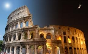 Картинка roma, night, coliseum