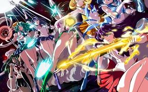 Обои арт, аниме, bishoujo senshi sailor moon, sailor venus