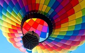 Картинка небо, полет, воздушный шар, корзина