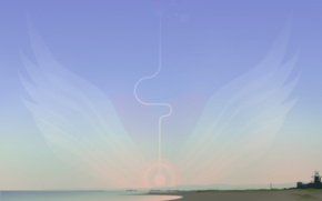 Обои небо, берег, обработка