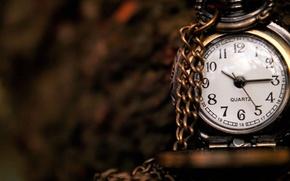 Картинка макро, стрелки, часы, цифры, циферблат, цепочка, 1920x1080