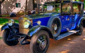 Картинка синий, ретро, автомобиль