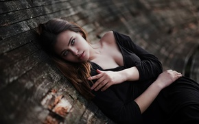 Картинка взгляд, макияж, декольте, губки, Yarik Urban