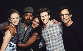 Картинка сериал, The Flash, Grant Gustin, Jesse L. Martin, Candice Patton, Thomas Cavanagh, Danielle Panabaker
