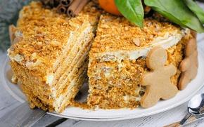 Картинка печенье, торт, медовик