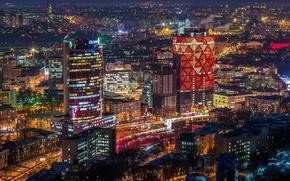 Картинка дома, Украина, улицы, Киев, огни ночного города
