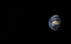Обои земля, вид, планета, пейзаж, космос