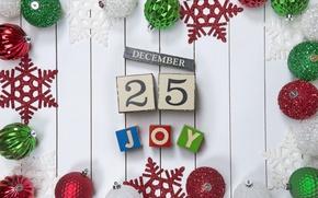 Обои merry, christmas, decoration, balls, рождество