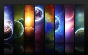 Обои планеты, космос, абстракция