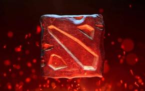 Картинка фон, камень, логотип, logo, dota, дота, dota2, любимая