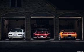 Картинка Nissan Skyline, Acura NSX, RWB Porsche