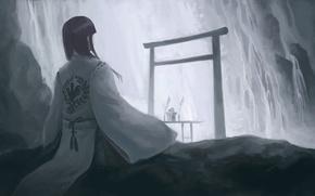 Обои спокойствие, восток, Hiraoka Masamune, composure, умиротворение, кимоно