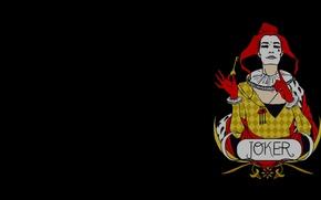 Картинка Джокер, Черный фон, Black, Joker