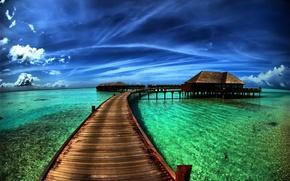 Обои море, HDR, пляж, природа