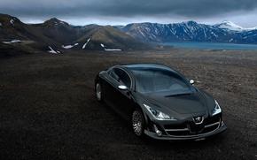 Обои Concept, горы, Peugeot, черный