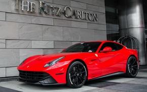 Картинка Ferrari, Red, Berlinetta, F12