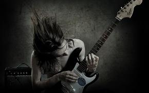 Картинка гитара, гитарист, инструмент, Fender, solo, black metal