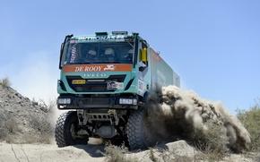 Картинка Спорт, Машина, Грузовик, Rally, Dakar, Дакар, Передок, 2014, Iveco