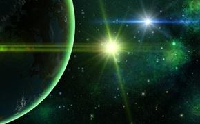 Картинка космос, планета, звёзды, space, planet