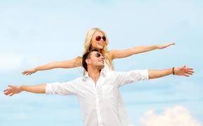 Картинка лето, любовь, радость, счастье, пара, summer, happy, couple, romance