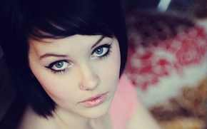 Картинка глаза, взгляд, милая, модель, брюнетка, Mellisa Clarke